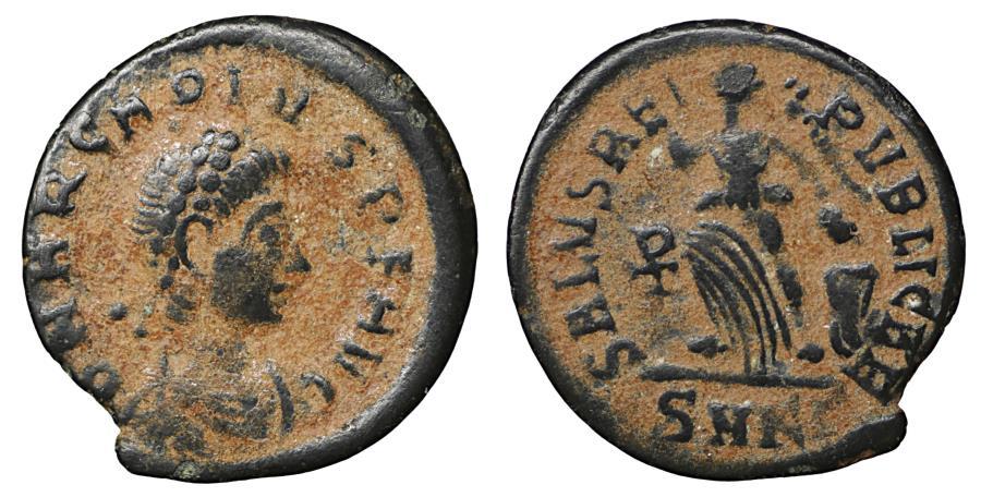 Ancient Coins - Arcadius 383–408 AD Bronze Cyzicus XF Victory \ Roman Coins