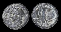Ancient Coins - JUDAEA CAPTA. CAESAREA MARITIMA MINT. Domitian struck 83 AD. AE23 VF. RARE