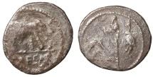 Ancient Coins - Julius Caesar. 49-48 BC. AR Denarius  Rare. aVF