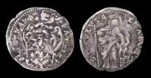 World Coins - Papal States. Paul V. 1605-1621. AR 1/2 Grosso. Rome mint SAINT PAVULVS RARE