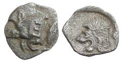 Ancient Coins - Mysia Kyzikos 480 BC Obol XF