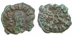 Ancient Coins - Kings of Axum WZN 610-630 Æ16 Green patina VF+