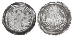 World Coins - ITALY Trieste Arlongo de' Visgoni 1260-1282 Denar R2 XF\UNC