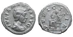 Ancient Coins - Julia Maesa 218-222 AD Denarius PVDICITIA VF/EF