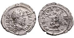 Ancient Coins -  Septimius Severus Denarius Struck 202 AD \ Victory Roman coin