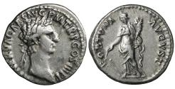 Ancient Coins - Nerva 97 AD Denariu. \ FORTVNA AVGVST \ XF