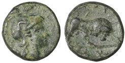 Ancient Coins - Lucania Thourioi Bronze 415-400 BC  VF\XF