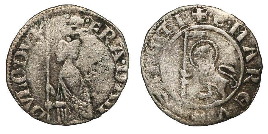 World Coins - REPUBLIC OF VENICE FRANCESCO DANDOLO 1329-1339 AD SOLDINO XF