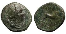 Ancient Coins - Macedonia, Amphipolis AE19. bull bounding right.