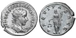 Ancient Coins - Gordian III Silver Antoninianus 240 AD Mint State