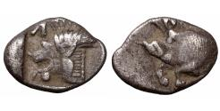 Ancient Coins - MYSIA Cyzicus 480-400 BC Silver Obol UNC \ Greek Coins