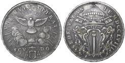 World Coins - Papal States Rome Sede Vacante Scudo 1758  Rare aXF