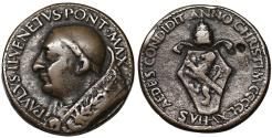 World Coins - Papal States. Paul II. 1464-1471. Bronze medal 1465  VF. Rare