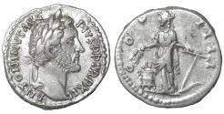 Ancient Coins - Antoninus Pius (138-161). AR Denarius. XF+ \ Annona
