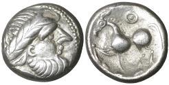 Ancient Coins - Eastern Celts Carpathian region. 2nd Century BC. AR Tetradrachm UNC