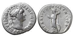 Ancient Coins - Domitian 81-96 Silver Denarius Minerva XF+ \ Roman Coins