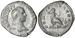 Ancient Coins - Caracalla Denarius 207 AD Securitas VF+