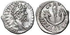 Ancient Coins - Septimius Severus. AR Denarius. Rome, AD 194-195. XF