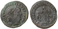 Ancient Coins - Diocletian 317-324 AE Follis 300-303 AD Ticinum (Pavia) Rare. aUNC