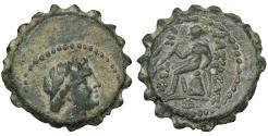 Ancient Coins - SELEUKID KINGS of SYRIA. Antiochos IV Epiphanes. 175-164 BC. Serrate Æ