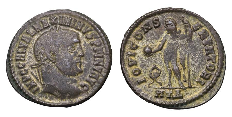 Ancient Coins - MAXIMINUS II. 309-313 AD. FOLLIS IOVI CONSERVATORI