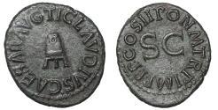 Ancient Coins - Claudius. 41-54 AD. AE Quadrans. Struck 42 AD.  Uncirculated
