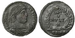 Ancient Coins - Jovian. 363-364 AD. AE3, Sirmium. XF
