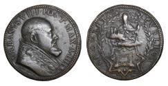 World Coins - Papal States Urbano VIII 1623-1644 Bronze Medal 1626  Rare XF+