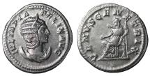 Ancient Coins - Julia Domna. AR Antoninianus. Struck 216 AD. XF