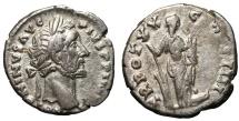 Ancient Coins - Antoninus Pius (138-161), Denarius, Rome aXF  Roman coin