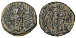 Ancient Coins - Constantine X Ducas with Eudocia 1059-1067 Æ Follis VF\XF Byzantine Coins