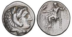 Ancient Coins - Kings of Macedon Side Alexander III the Great 336-323 BC Tetradrachm XF+
