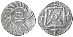 World Coins - Anglo-Saxon 740-800 AD Silver Continental Sceat XF