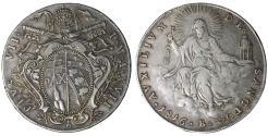 World Coins - Papal States Pius VII 1800-1823 AD Scudo 1816 Bologna Rare XF