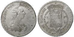 World Coins - Italy Florence Pietro Leopoldo Habsburg Lorraine AD 1765-1790 Francescone 1786 R2 XF