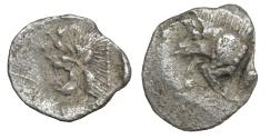 Ancient Coins - Mysia Kyzikos 450-400 BC AR Silver Hemiobol aXF