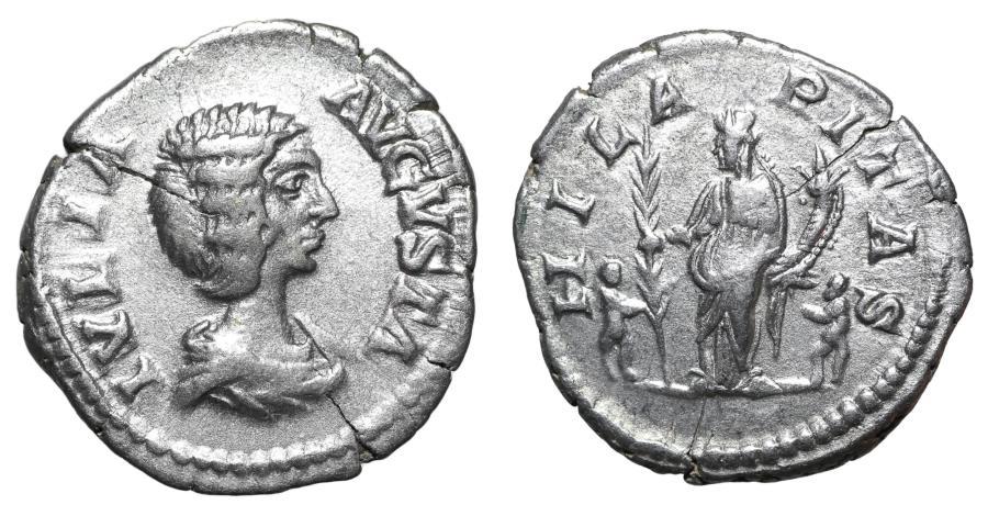 Ancient Coins - Julia Domna 198-207 AD Denarius XF \ Roman Coins