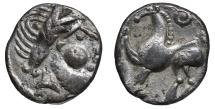 EASTERN CELTS. 2nd-1st century BC. Drachm  'Kugelwange' type VF+