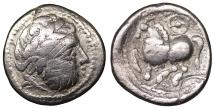 Ancient Coins - Eastern Europe. Imitation of Philip II 200-0 BC. Drachm. - VF\XF \ Celtic coin