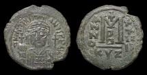 Justinian I. AE Follis. Mint Of Cyzicus 551 AD VF+
