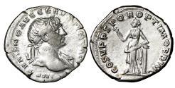 Ancient Coins - Trajan. 103-111 AD. Denarius. Felicitas \\ XF