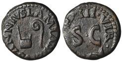 Ancient Coins - Augustus AE Quadrans Rome, 9 BC Rare. XF