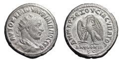 Ancient Coins - Philip I. Syria. Seleucis and Pieria. AR Tetradrachm. Struck 247 AD. Roman coin