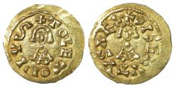 World Coins - Visigoths Spain Sisebut 612-621 Gold Tremissis  XF+ \ Barbaric Coins Westgoten