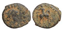 Ancient Coins - Honorius 393-423 Follis GLORIA ROMANORVM VF+