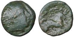 Ancient Coins - KINGS of MACEDON Alexander II 369-368 BC. Bronze unit. VF R2
