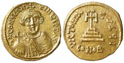 Ancient Coins - Constans II Pogonatus. AD 641-668. Gold Solidus Near Mint State