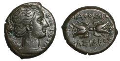 Ancient Coins - SICILY Syracuse Agathokles 317-289 BC. Litra XF