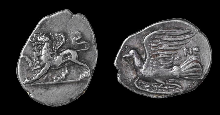 Ancient Coins - Peloponnesos SIKYONIA Sikyon 330-280 BC. AR Drachm EF toned
