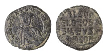 Leo VI the Wise 870 - 912 A.D. Bronze Follis. EF